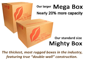 Larger Mega Box, from LIPS, offers nearly 20% more capacity.